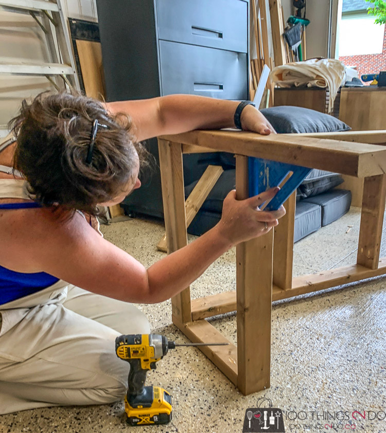 adding arms to the porch swing