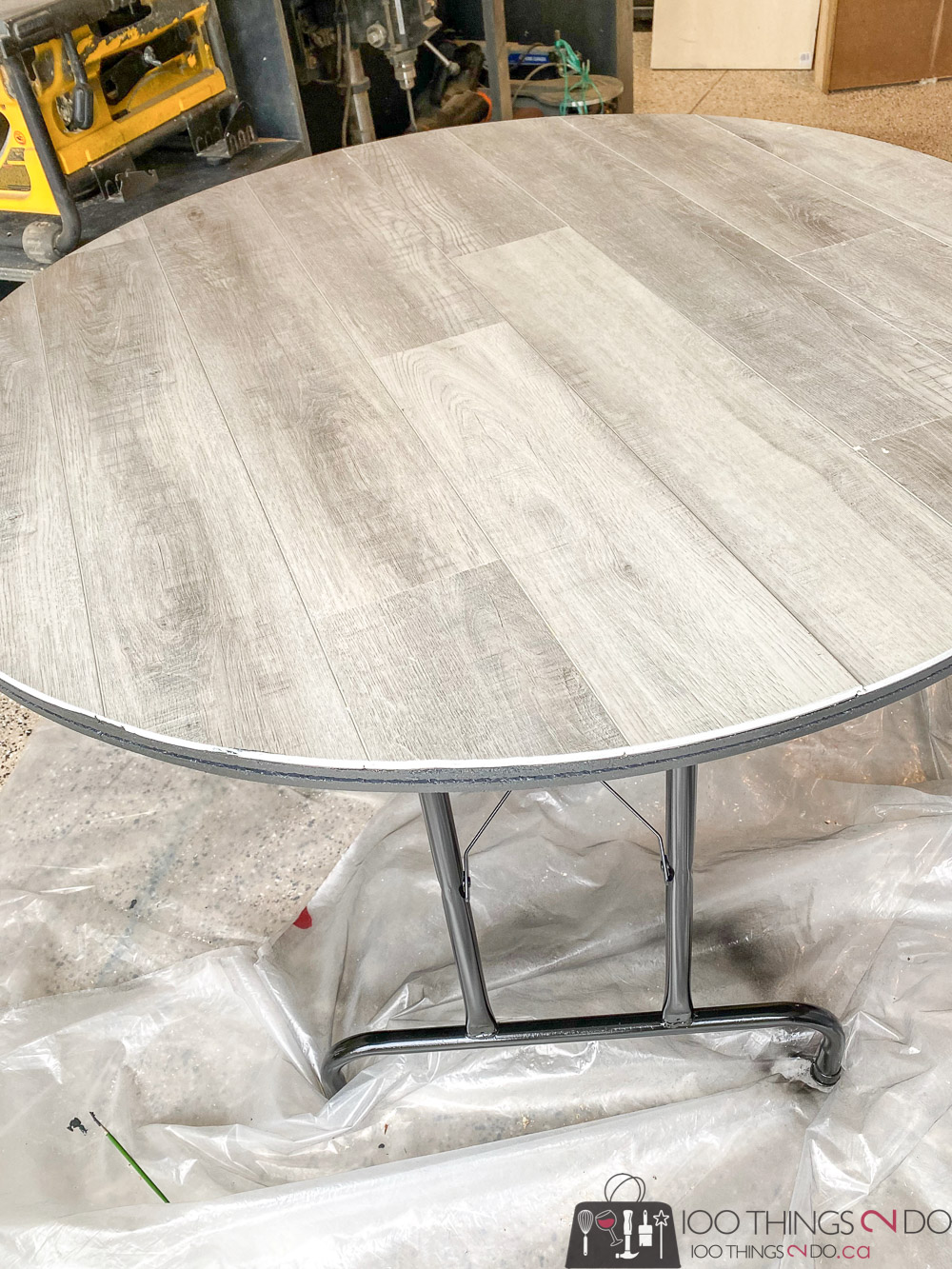 Card table makeover, game table makeover, folding table makeover