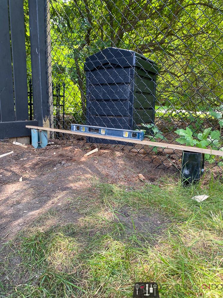 install steel ground spikes