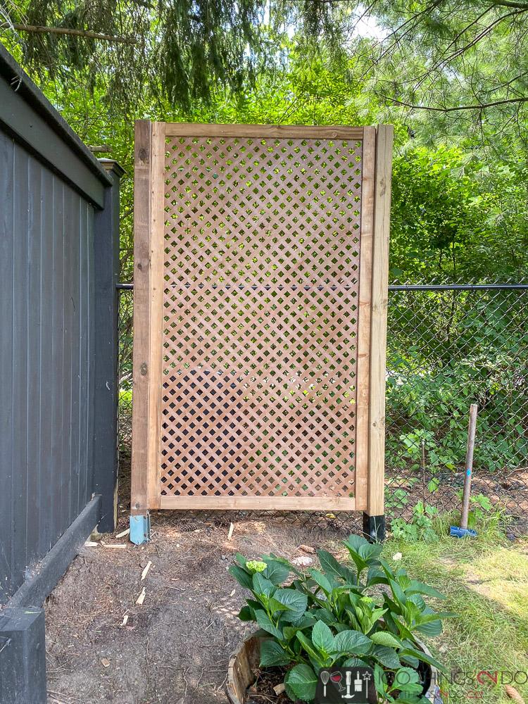simple privacy screen, lattice privacy screen, lattice privacy fence