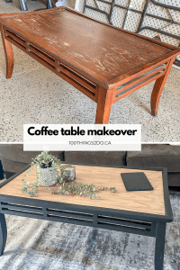 Upcycled coffee table, coffee table makeover, two-tone coffee table