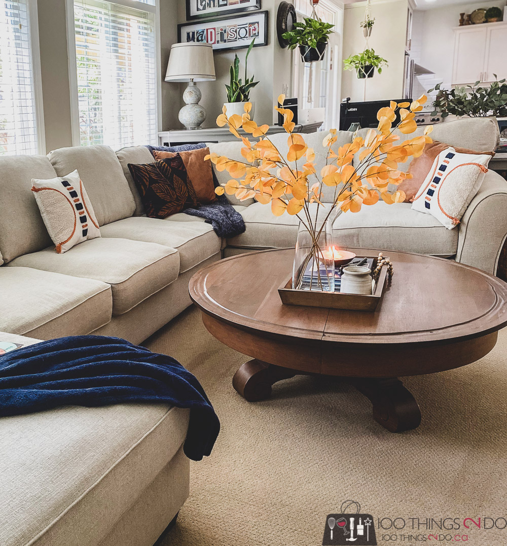 Fall decor, adding touches of fall to your decor, Fall family room