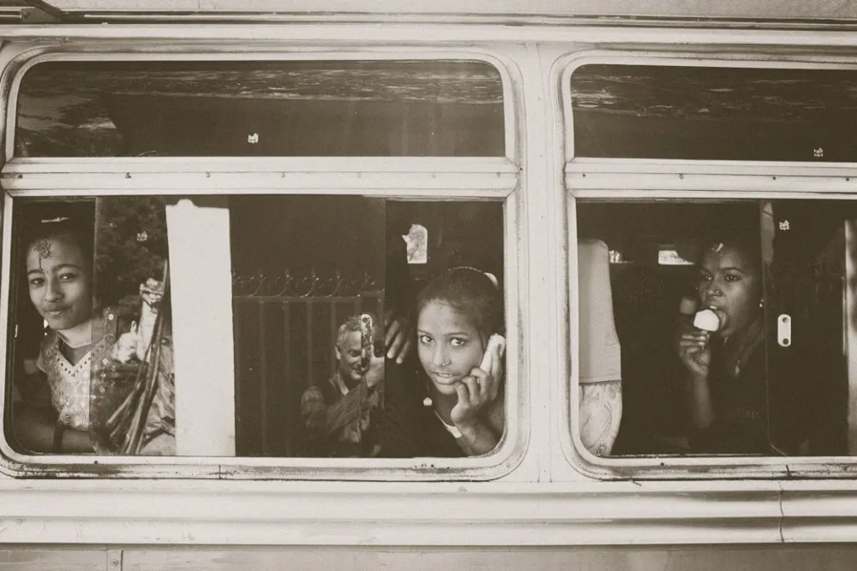 Girls in the bus