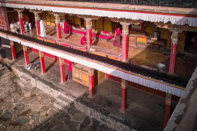 Sakya Monastery hallways