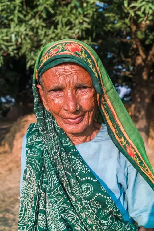 Portrait of an old woman, Chitwan