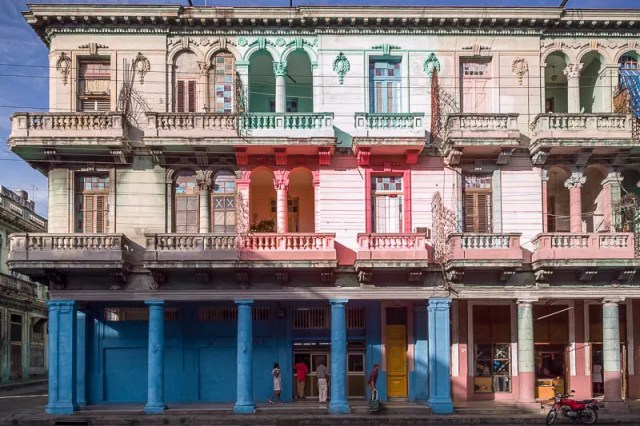 Colourful old building, Havana