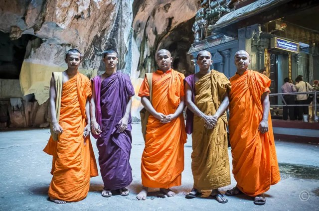 Monks from Sri Lanka at Batu Caves