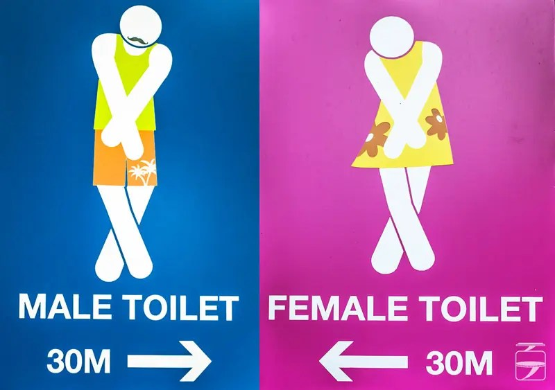 Toilet signs in Singapore