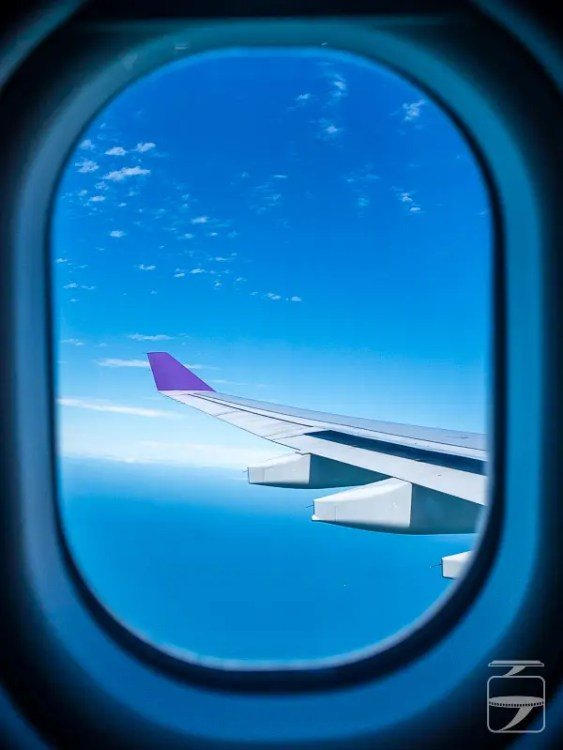 Airbus A330 window view