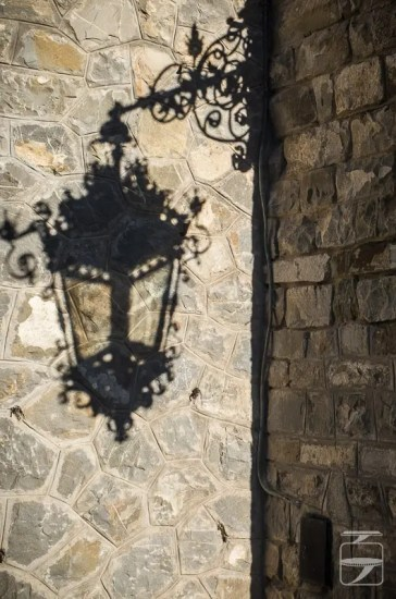 Peles Castle Lantern Shadow