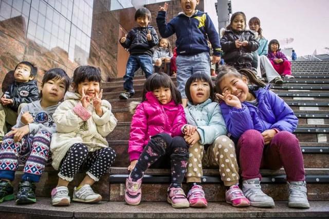 Children visiting the Kyoto Station