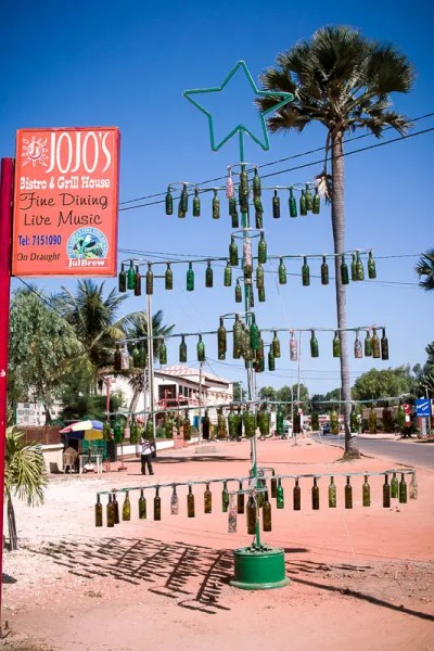 Bottles Christmas tree - Banjul, the Gambia