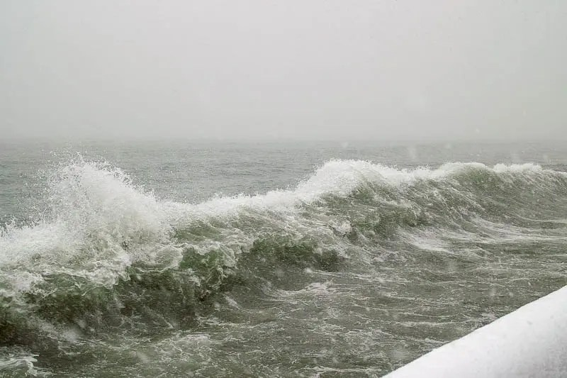 Lake Ontario storm waves