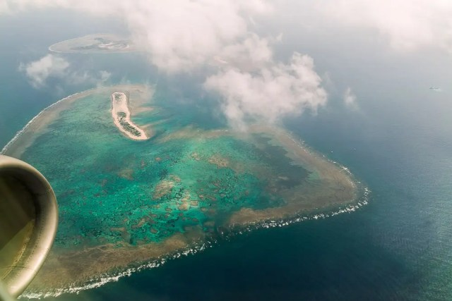 Okinawa coral islands (aerial view)