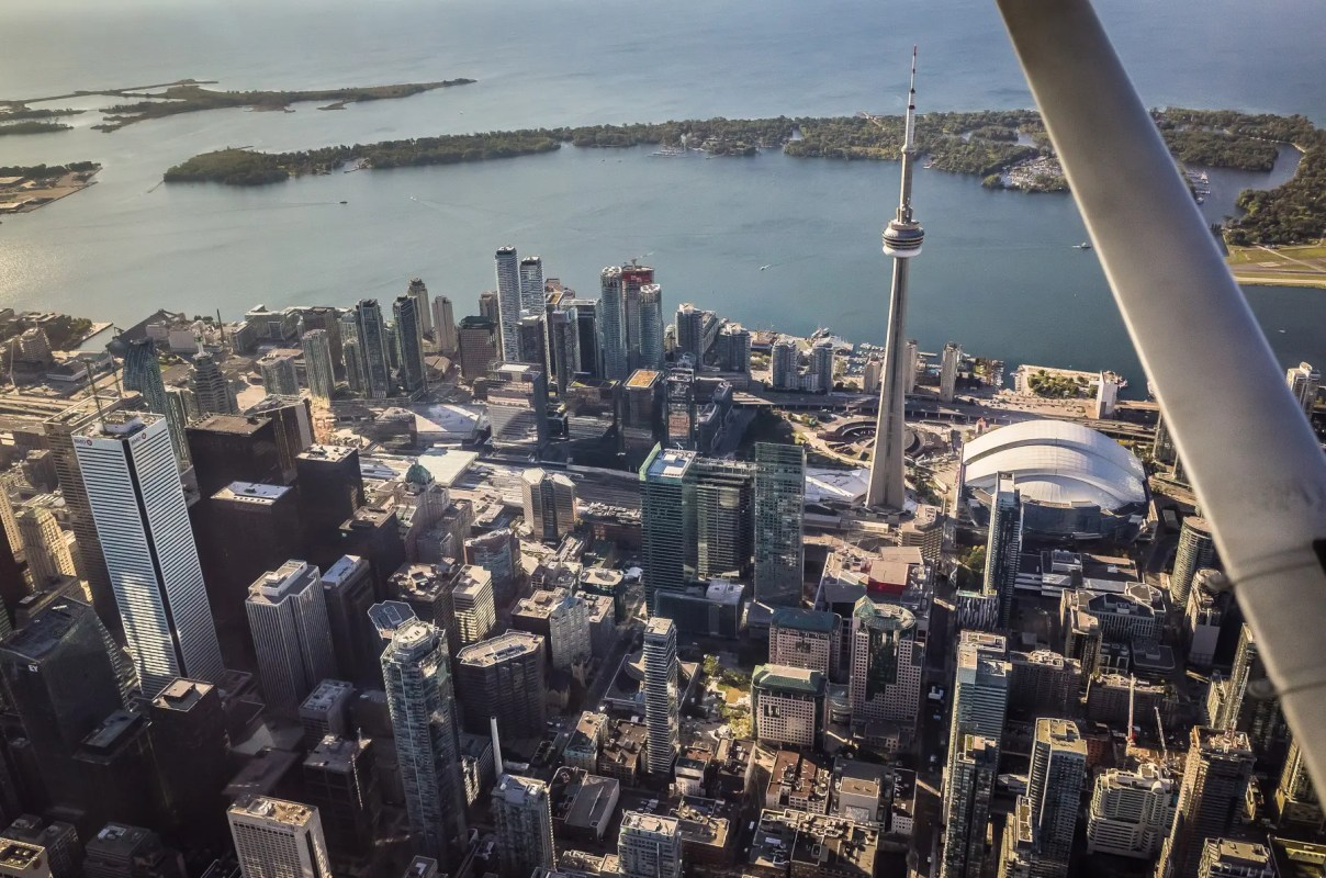 Toronto Downtown - aerial view