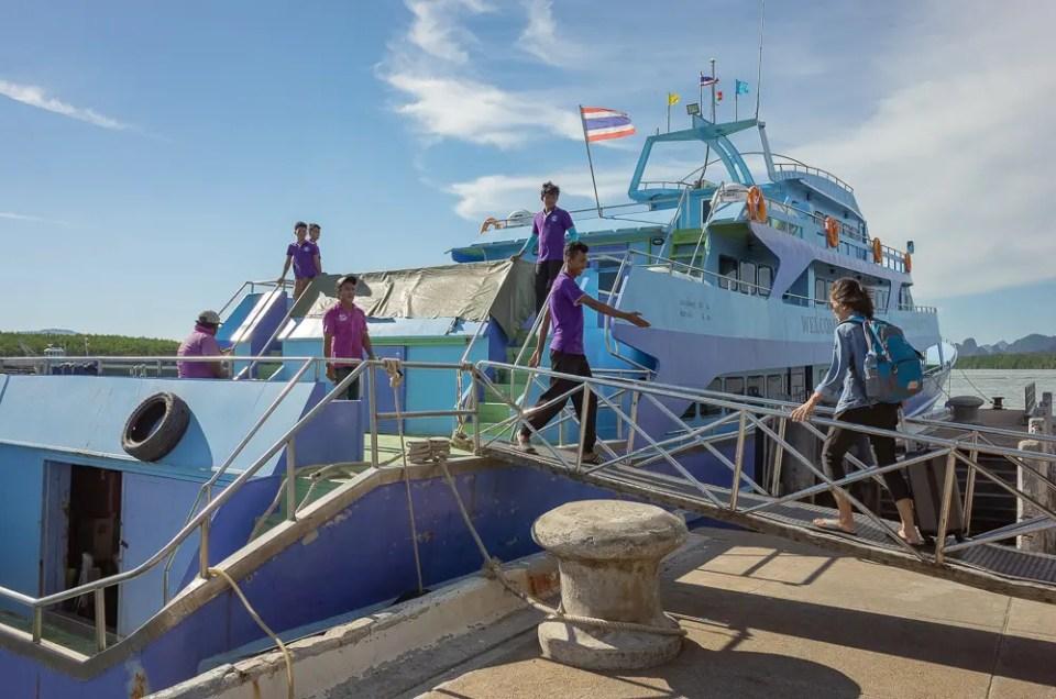 Boat to Koh Phi Phi Island
