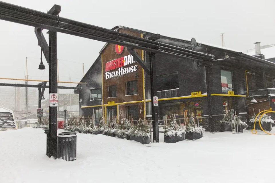 Amsterdam Brew House, Toronto Harbourfront, winter