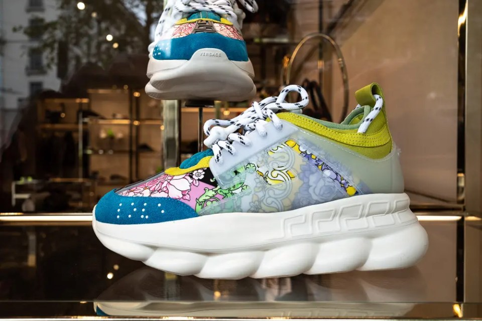 Luxury in fashion: Versace sneakers.
