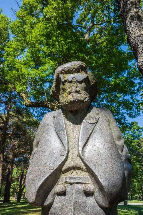 The Hippie statue, High Park Toronto