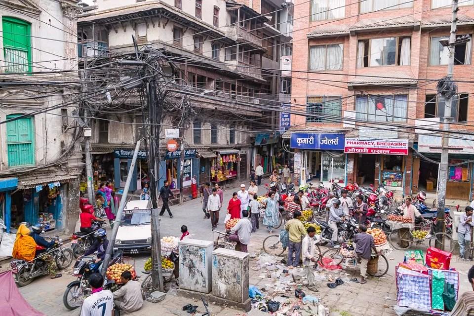 Kathmandu street market