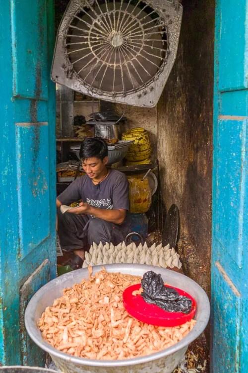 Food seller in Kathmandu