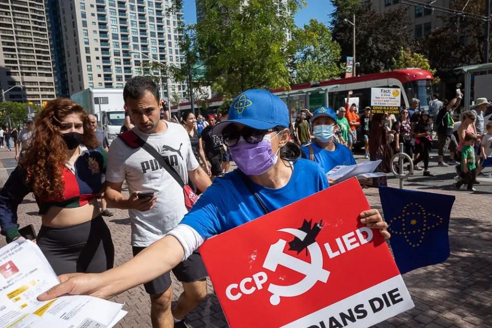 Anti vaccine passport protest