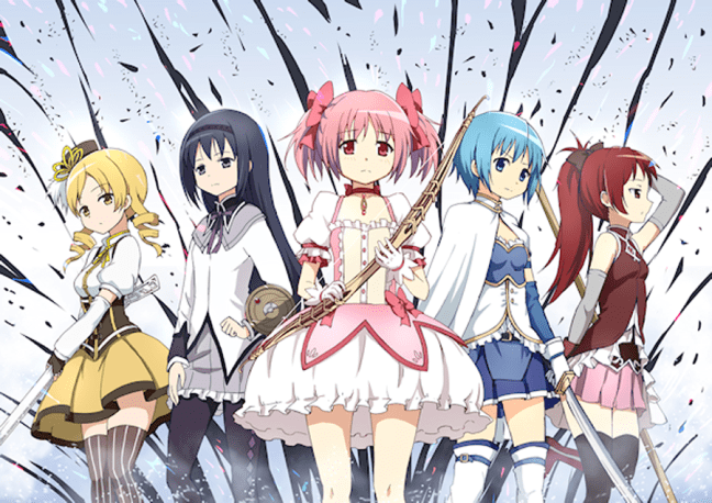 The girls from Madoka Magica