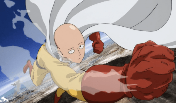 One Punch Man Saitama Flying