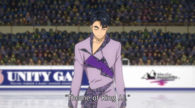 Yuri on Ice Episode 8 JJ takes the ice for Theme of King JJ