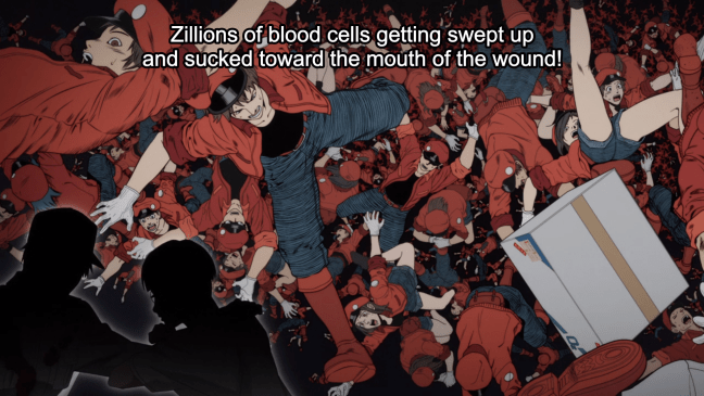 Cells at Work Episode 13 - Red Blood Cells getting sucked out