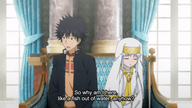 A Certain Magical Index Episode 11 Touma and Index