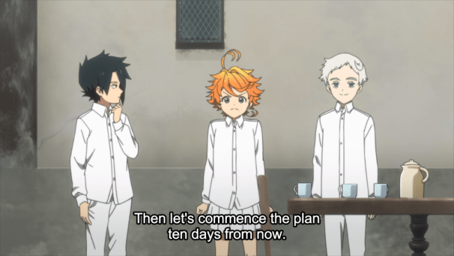 The Promised Neverland Episode 4 Ray, Emma and Norman