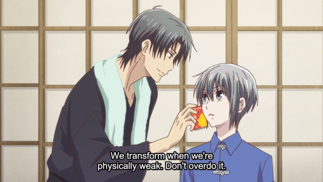 Fruits Basket - Shigure warning Yuki