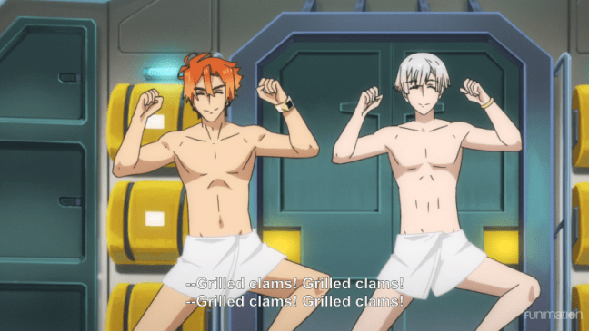 Robi and Hachi dancing in towels - RobiHachi