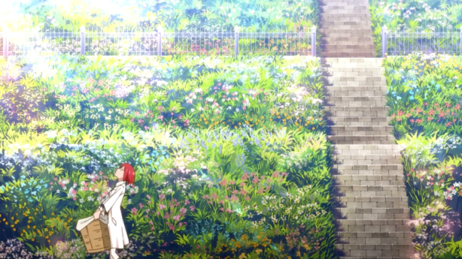 Snow White With The Red Hair - Shirayuki and the garden