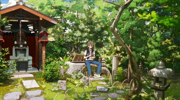 Yasaburo visits the well - The Eccentric Family