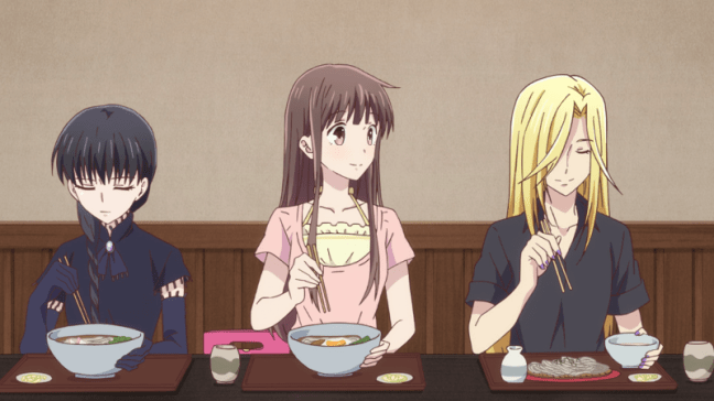 Fruits Basket - Episode 16 - Tohru, Arisa, and Hana
