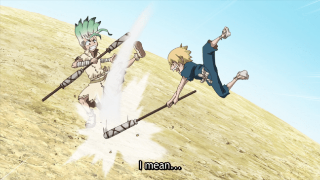 Dr Stone - Anime tournament arc in the midst of invention.