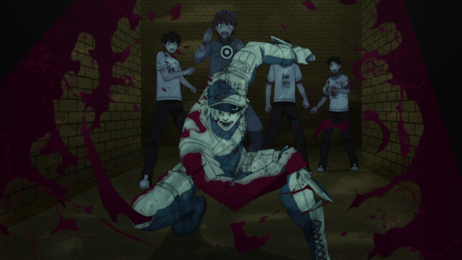 White Blood Cell defending the others - Cells at Work Season 2 Episode 1