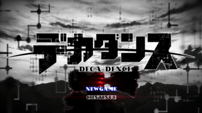 Game log-in - Deca-Dence Anime