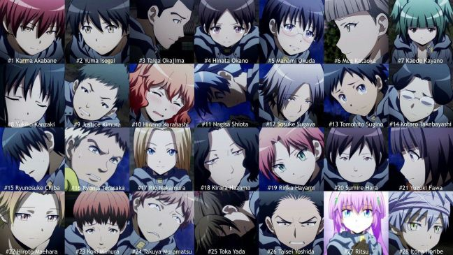 The characters of class e