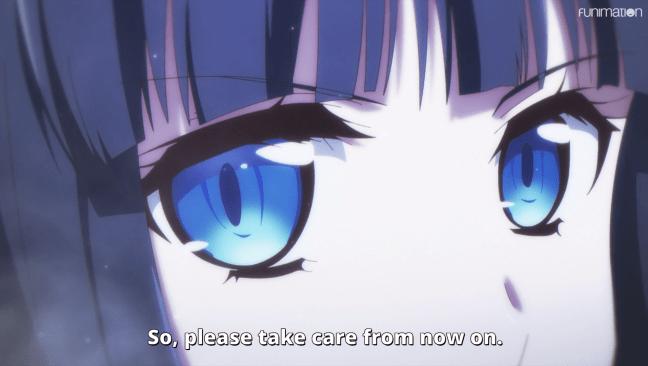 Mahouka Koukou no Yuutousei - Miyuki's cold glare