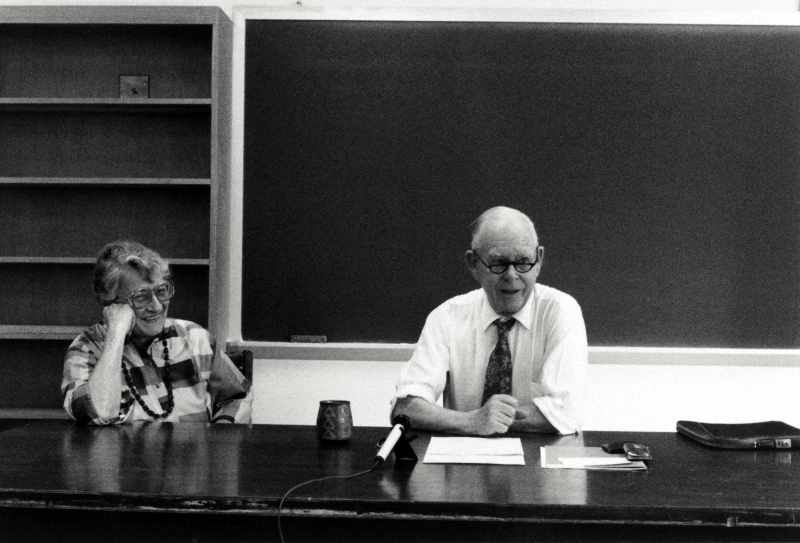 John Bowlby and Mary Ainsworth in Charlottesville in 1986