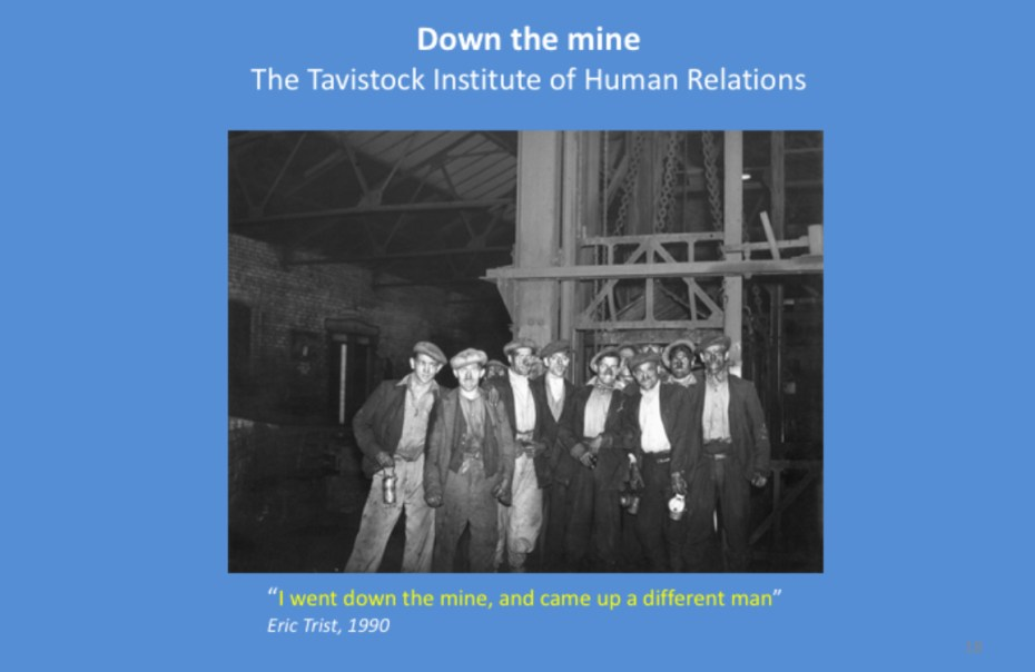 Down the mine