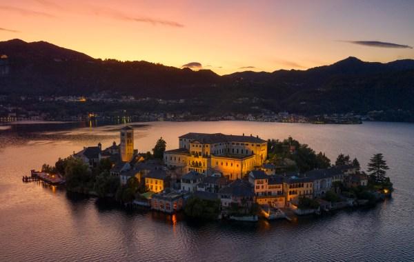 San Giulio island - Orta lake