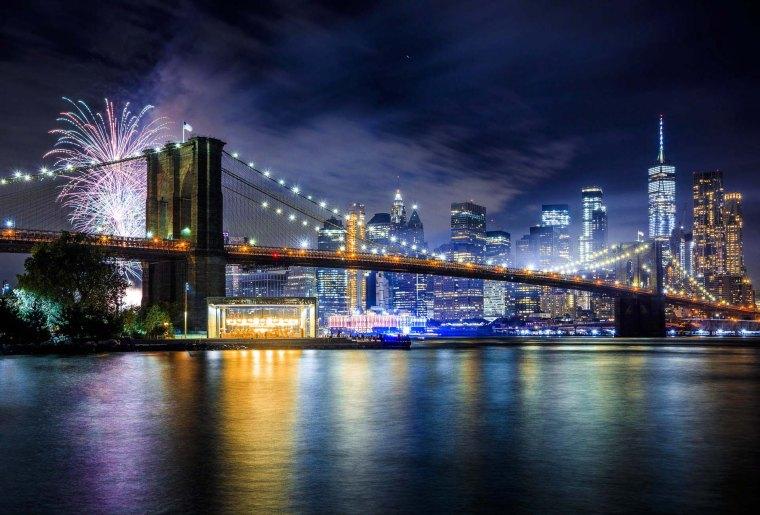 Brooklyn Bridge fuochi