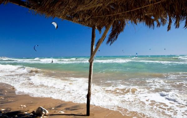 Kitesurf nelle spiagge Ragusane