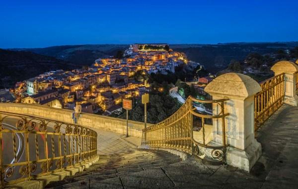Ragusa Ibla vista da Santa Maria delle Scale
