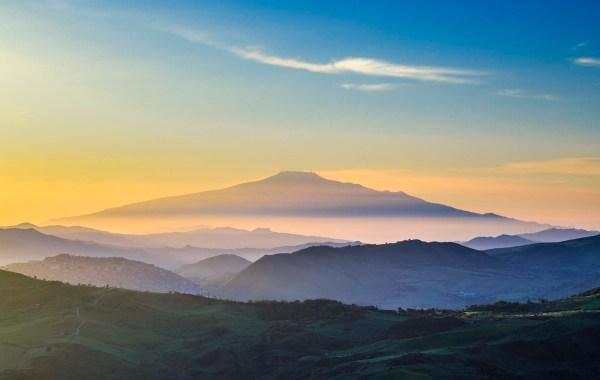 Etna vista dal Parco delle Madonie