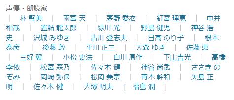 ナレーター(声優・朗読家)